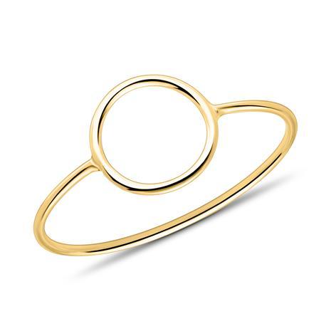 Filigraner Damenring mit Kreis aus 375er Gold