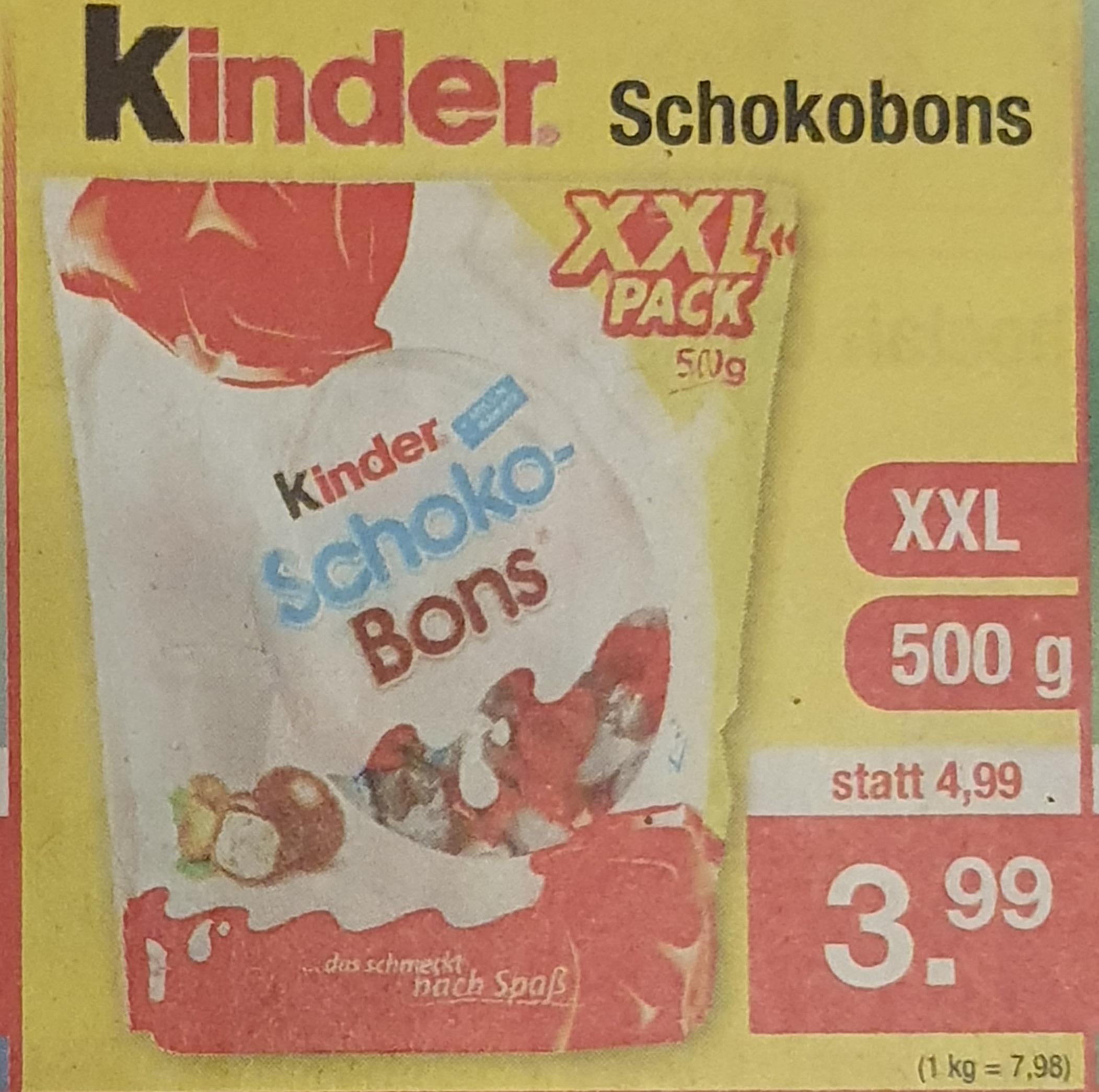 500g Kinder Schoko-Bons offline@Zimmermann Sonderposten