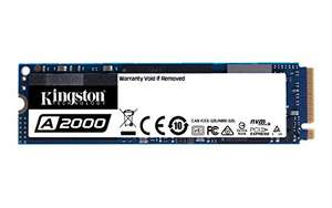 [Amazon] Kingston A2000 (SA2000M8/1000G) SSD NVMe PCIe M.2 2280 1TB oder 500GB für 38,99€