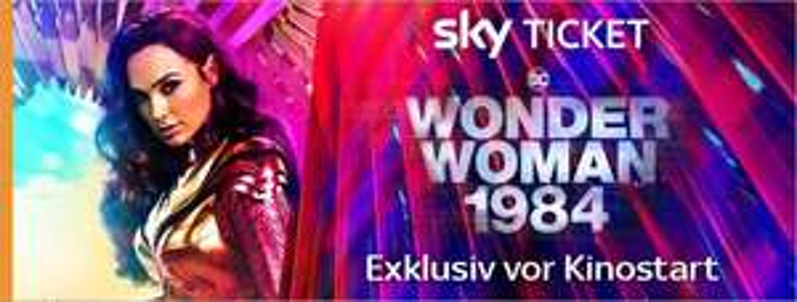 [Sky Ticket & Shoop] 1 Monat Cinema und Entertainment (inkl. Wonder Woman 1984) für effektiv 2,99 € (Nur Neukunden)