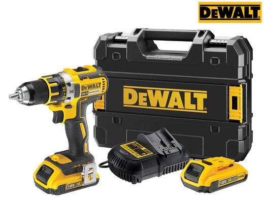 "DeWalt 18V-Akku-Bohrschrauber ""DCD790D2"" (2x 2Ah-Akku, Ladegerät, TSTAK-Box, Bürstenlos) [iBOOD]"