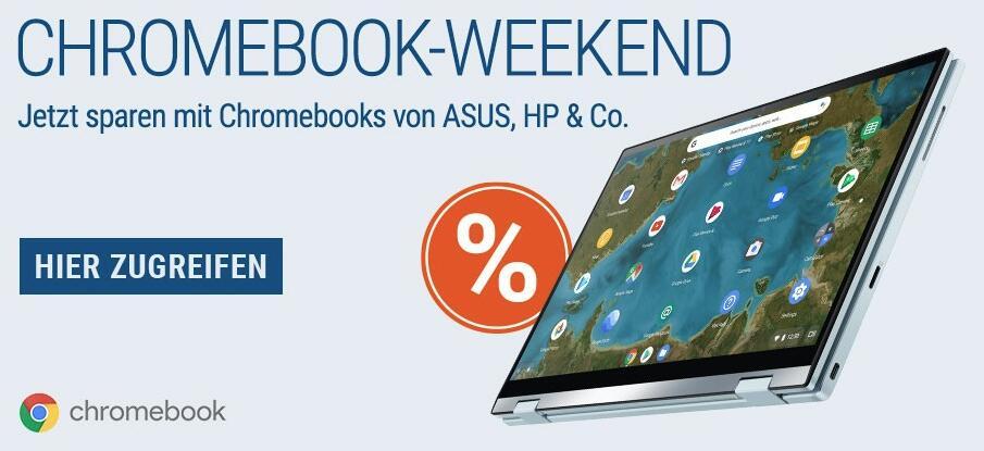 Chromebook Weekend - Chromebooks bis zu 24% reduziert +100GB + Youtube Premium + Stadia PRO 3 Monate for free! - z.B. Asus Chromebook C523NA