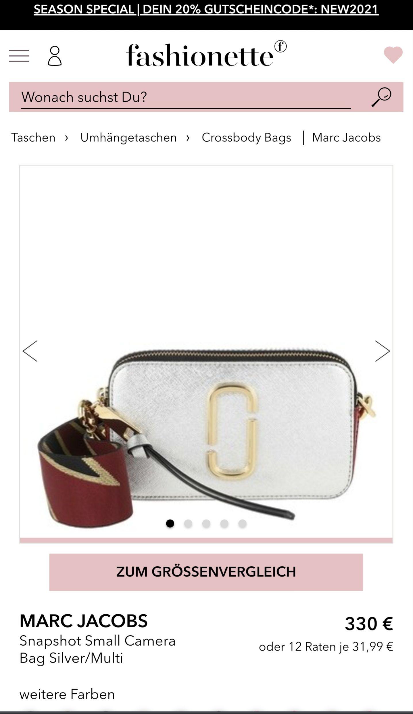 Marc Jacobs Snaphot silber - 20% Rabatt über Fashionette