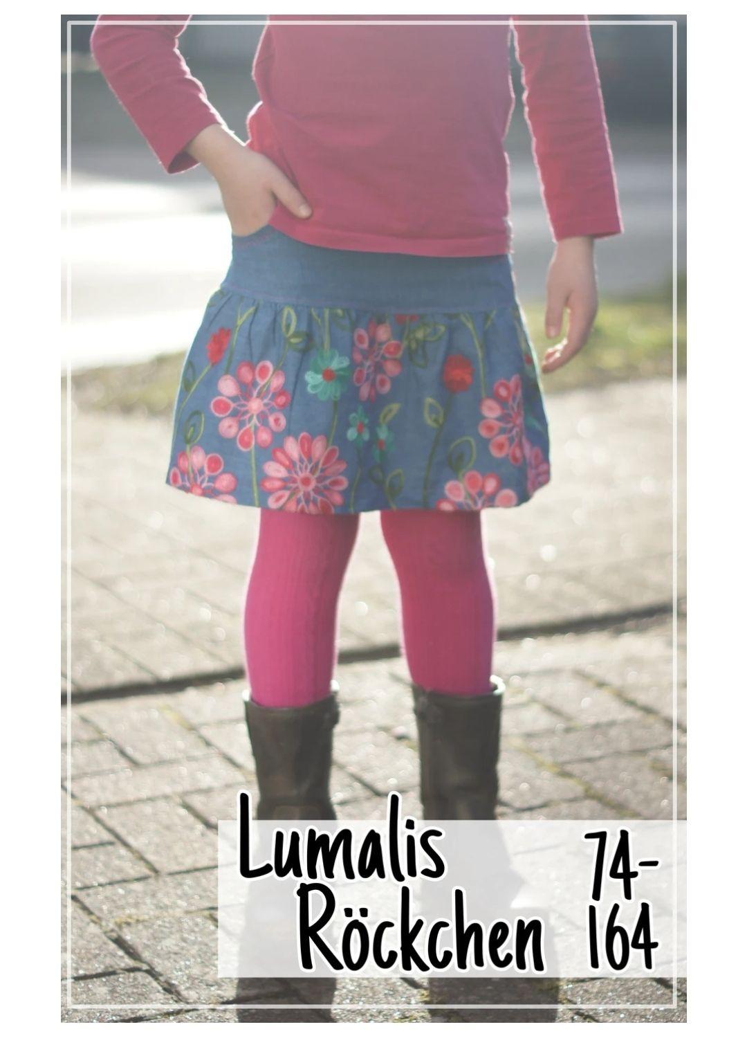 [GRATIS Schnittmuster] Lumali kostenloses Schnittmuster E-Book für einen Kinderrock Gr 74-164