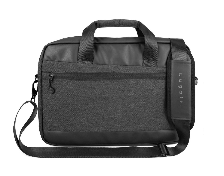 Bugatti Aktentasche Laptoptasche Notebooktasche Reisetasche in Schwarz 46x32cm