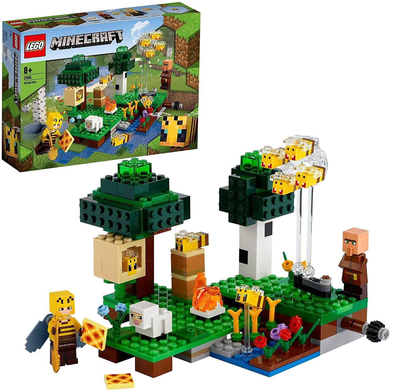 [Prime] LEGO 21165 Minecraft Die Bienenfarm, Bauset mit Bienenzüchterin und Schaffigur (238 Teile)