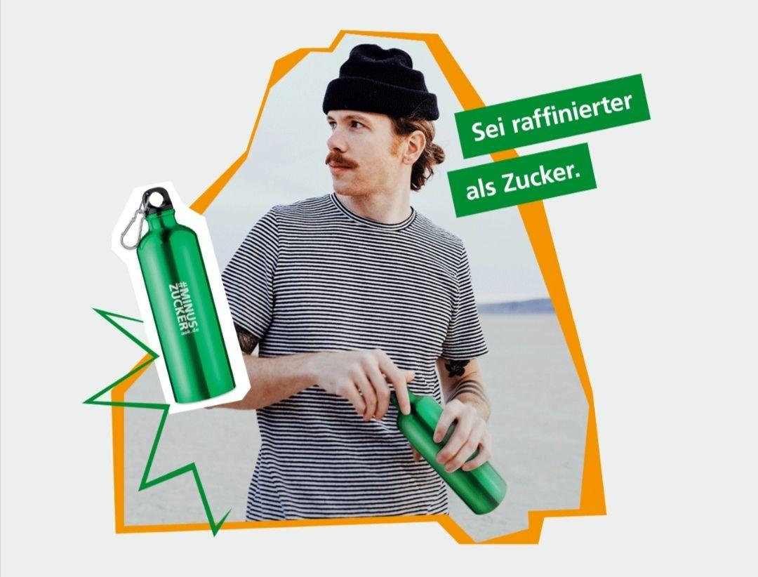 FREEBIE gratis Metall-Trinkflasche gegen Daten