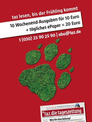 10x TAZ Wochenende + 10 Wochen ePaper TAZ - 20€