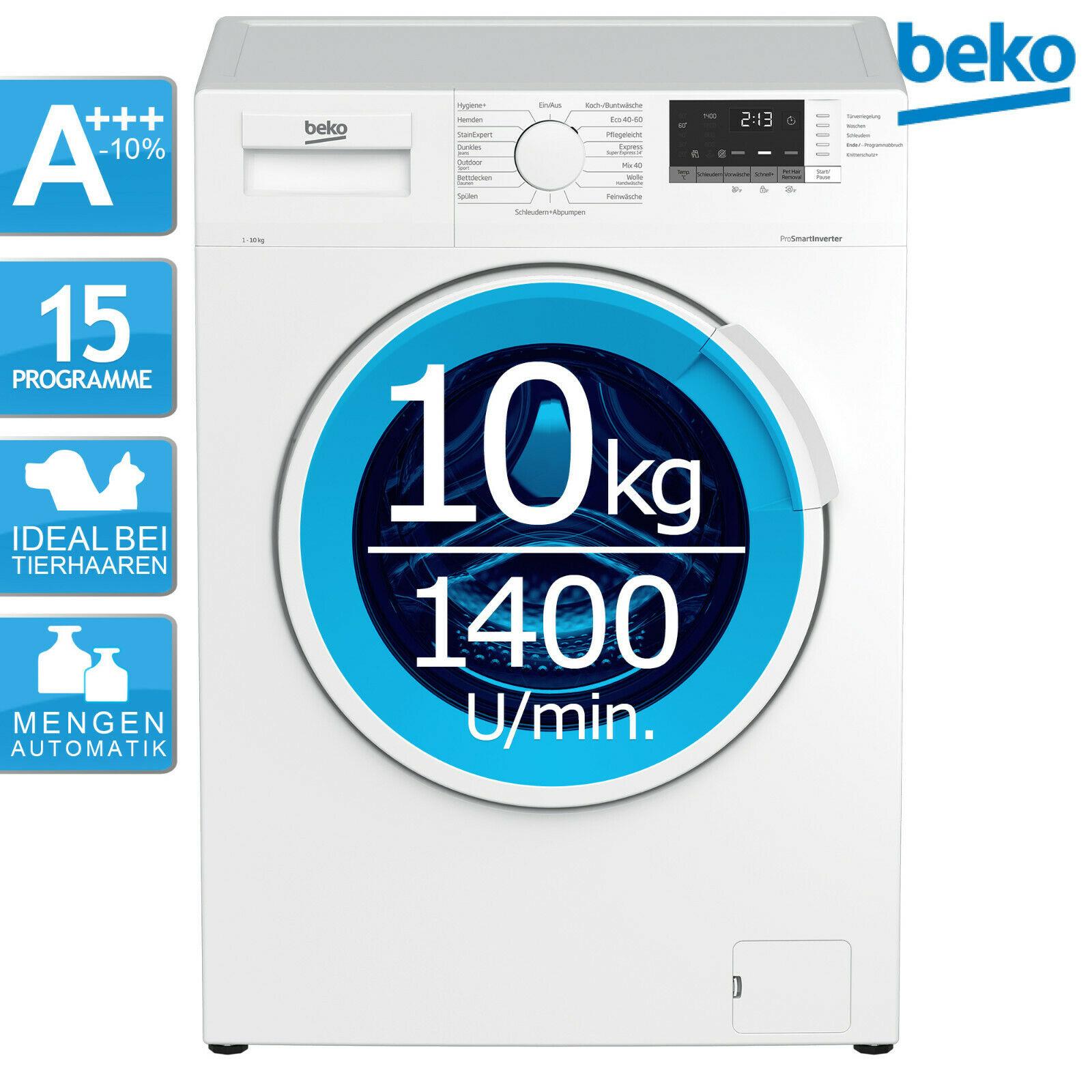 BEKO WMB101434LP1 AddXtra Nachlegefunktion 10 kg A+++