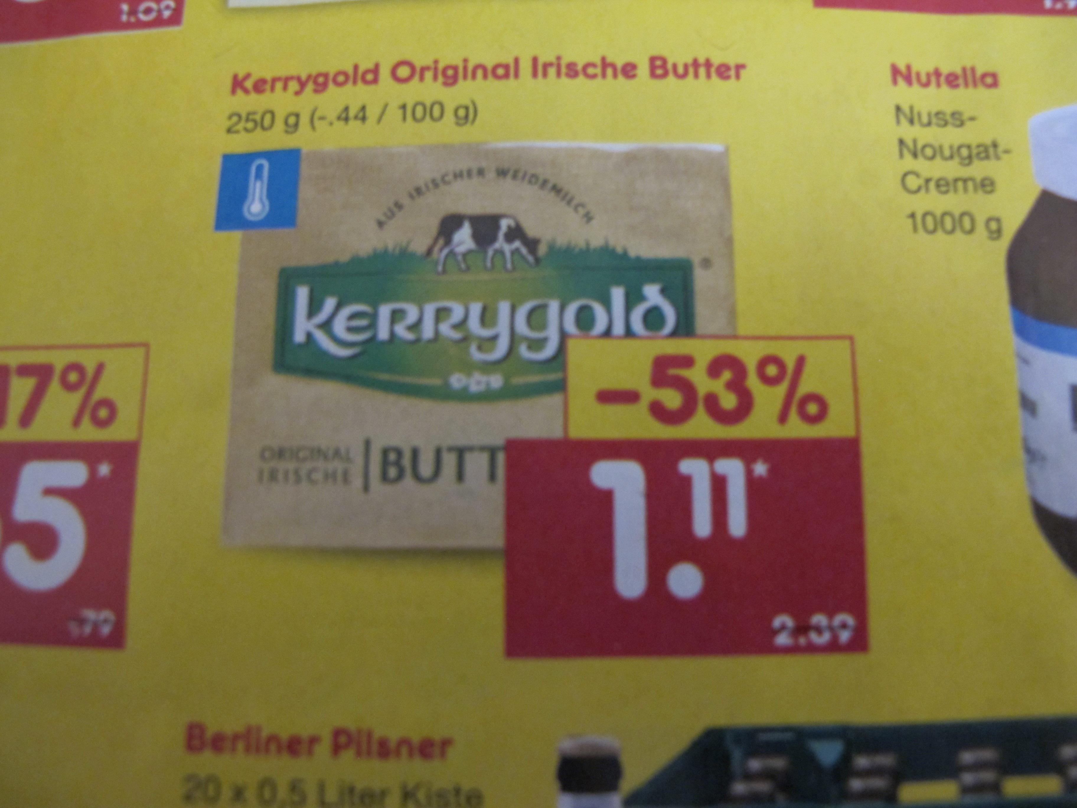 kerrygold Butter nur 1,11 Euro ab 22.2. bei netto. Bestpreis 2021