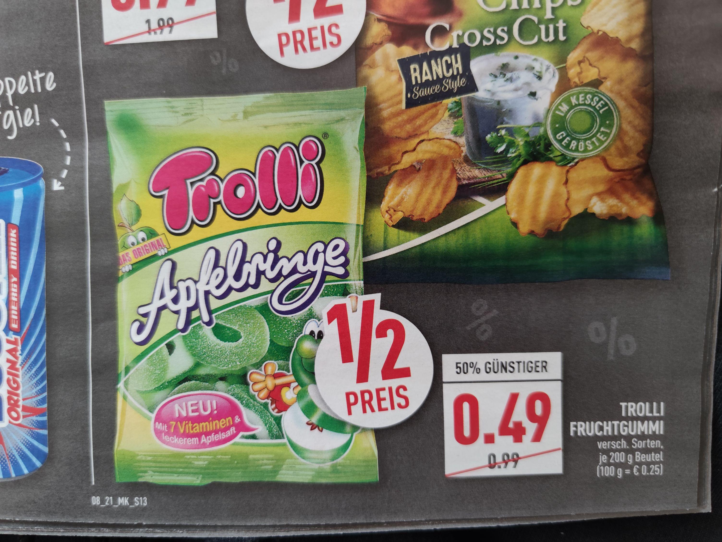 Trolli Fruchtgummi verschiedene Sorten bei Marktkauf