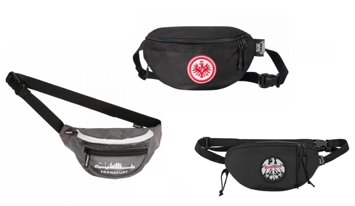 Eintracht Frankfurt, verschiedene Brustbeutel- und Hüfttasche, SGE Matchday-Angebot