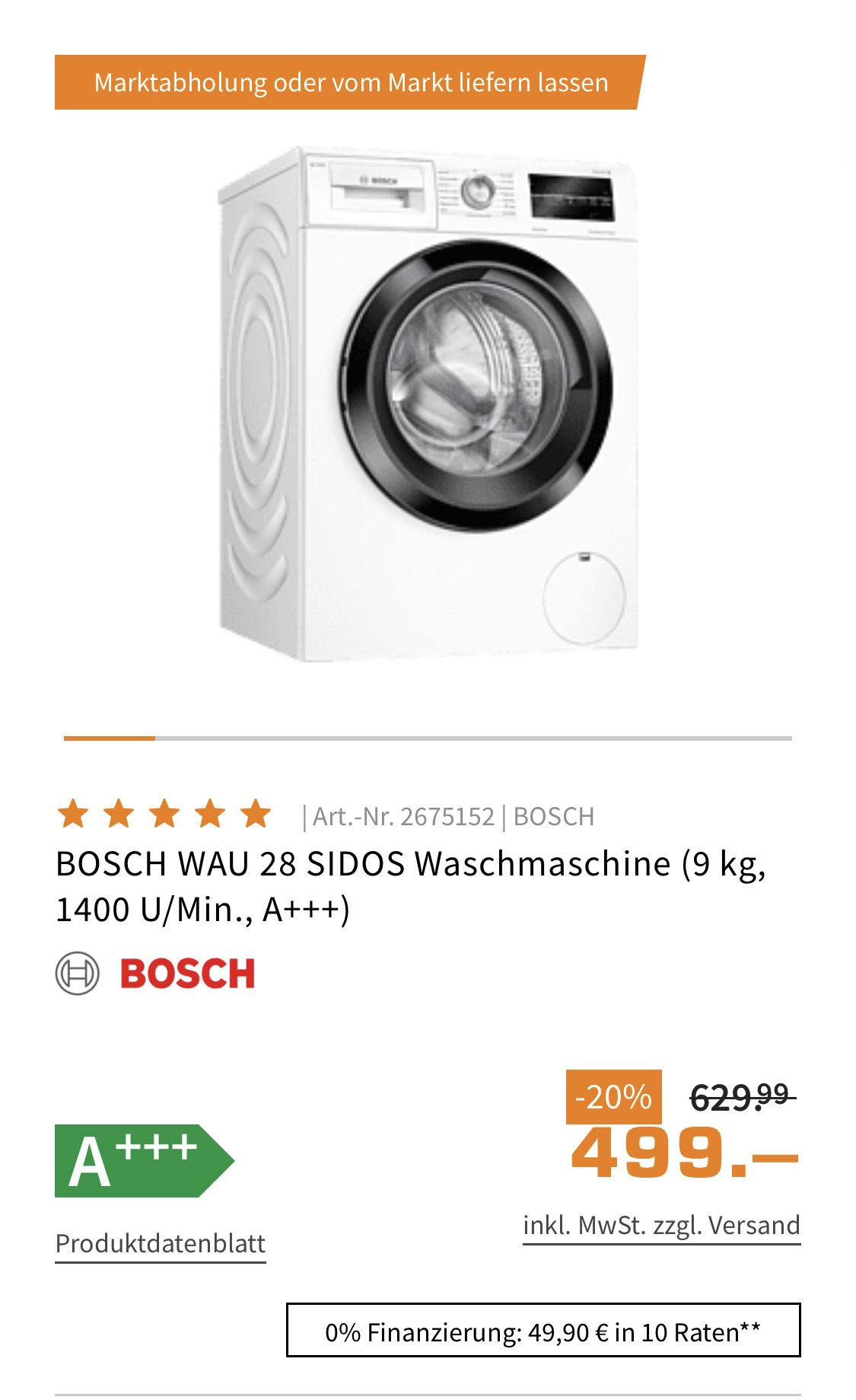 Bosch Waschmaschine WAU 28 SIDOS