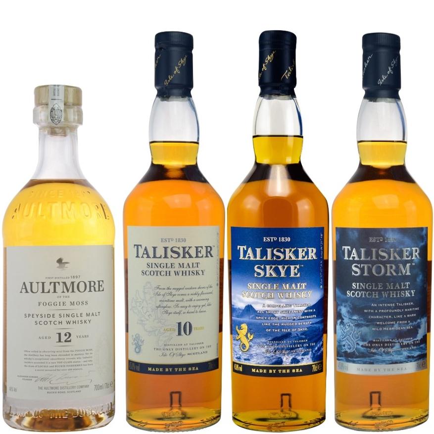 Whisky-Übersicht #74: z.B. Aultmore 12 Jahre Single Malt für 36,05€, Talisker 10 Jahre / Skye / Storm für je 26,99€ inkl. Versand