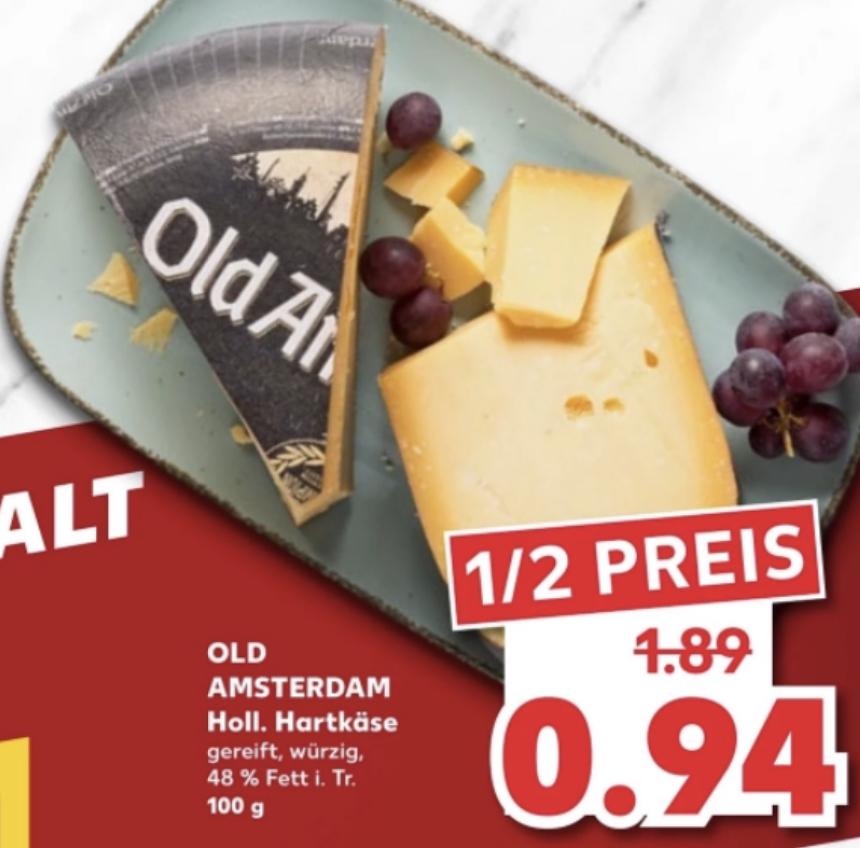 Kaufland: Old Amsterdam Hartkäse 100g für 0,94€ / Tabasco Sauce versch. Sorten je 60ml Flasche 1,99€