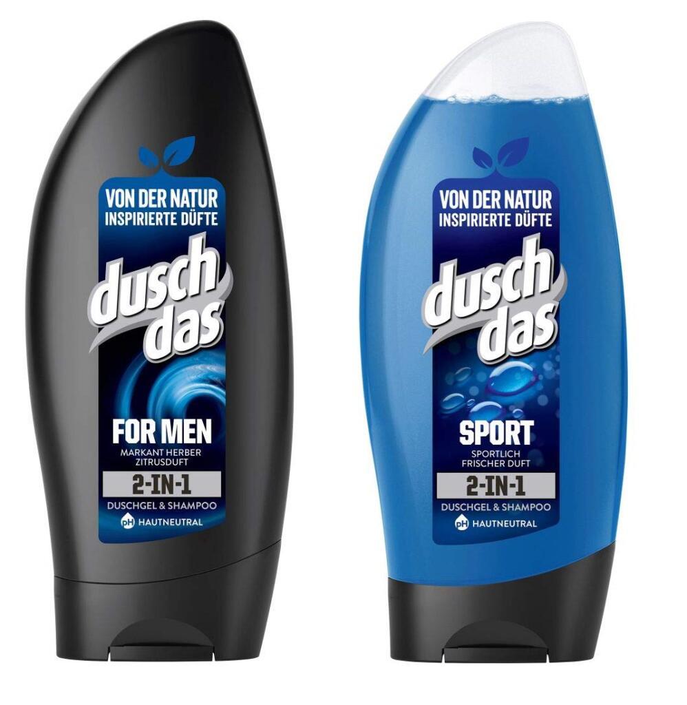 [Amazon] [Prime] DuschDas 2in1 Duschgel & Shampoo - For Men + Sport - 6er Pack