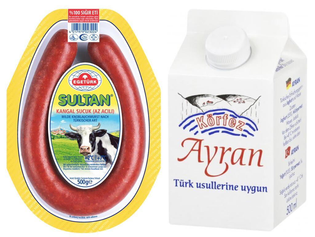 Körfez Ayran 500ml für 0,49€ o. Egetürk Sultan Kangal Sucuk für 5,19€ [Kaufland]