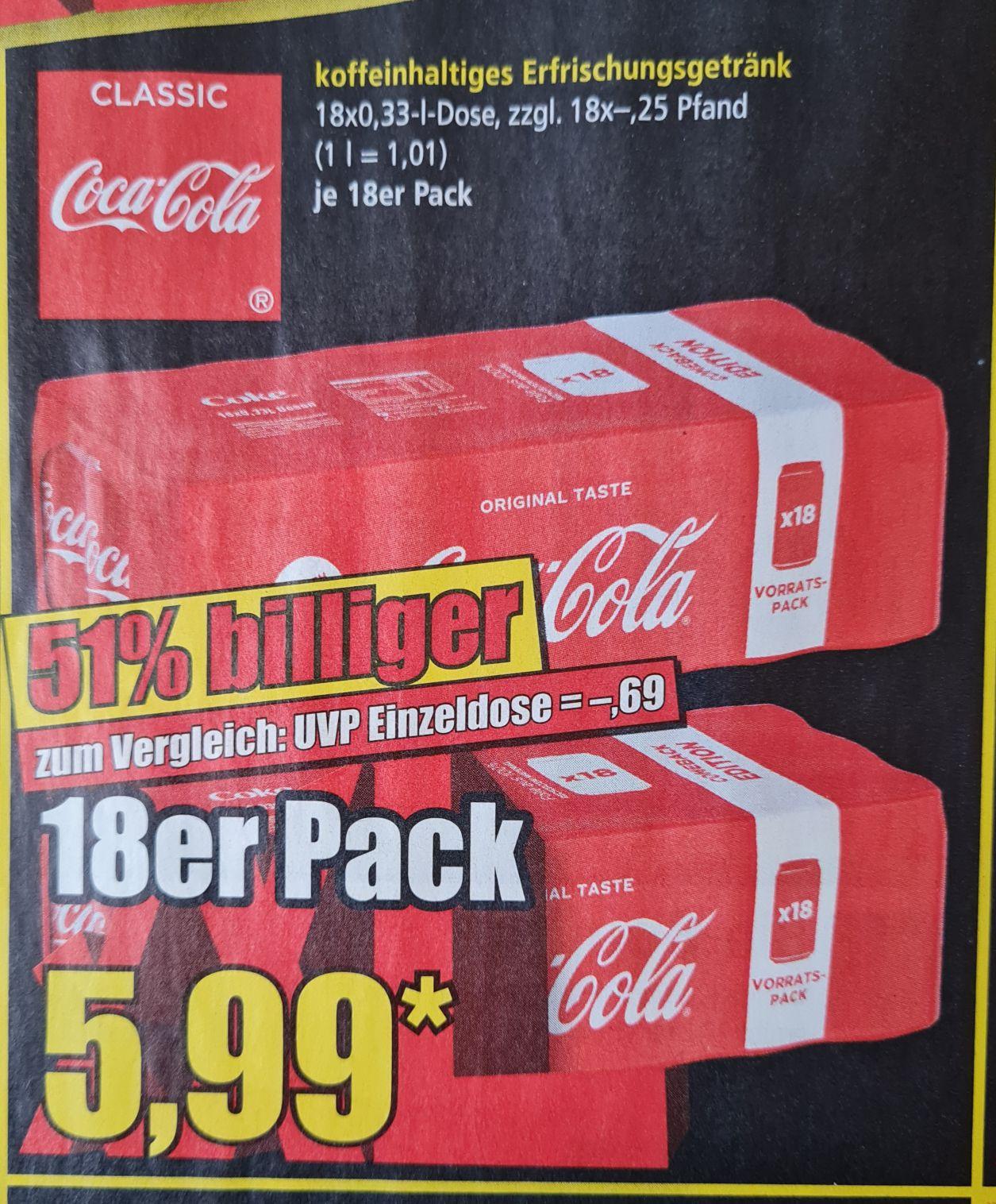 Norma ab 01.03 Coca-Cola Dosen 18x0,33 l
