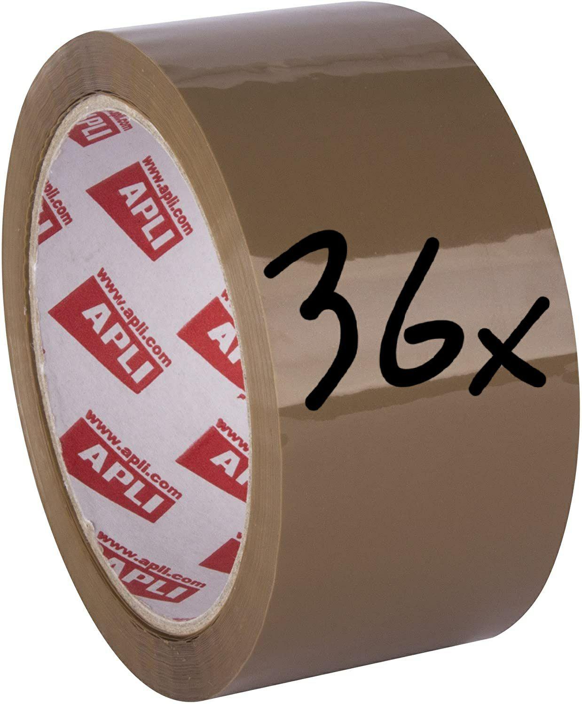 36x Paketband Braun (Entspricht je Rolle ca. 0,44€) [Amazon Prime]
