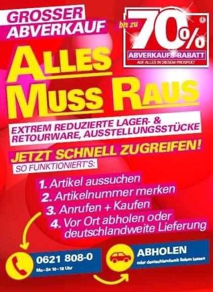 Möbel Höffner alles muss raus bis zu 70%. Lieferung Deutschlandweit!