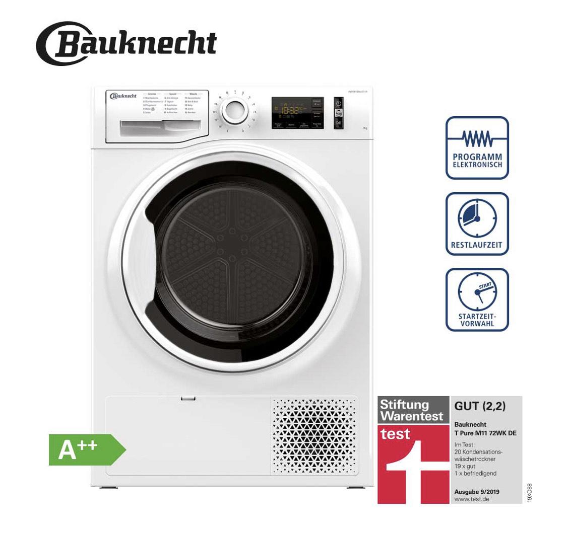 Bauknecht T PURE M11 72WK DE Wärmepumpentrockner