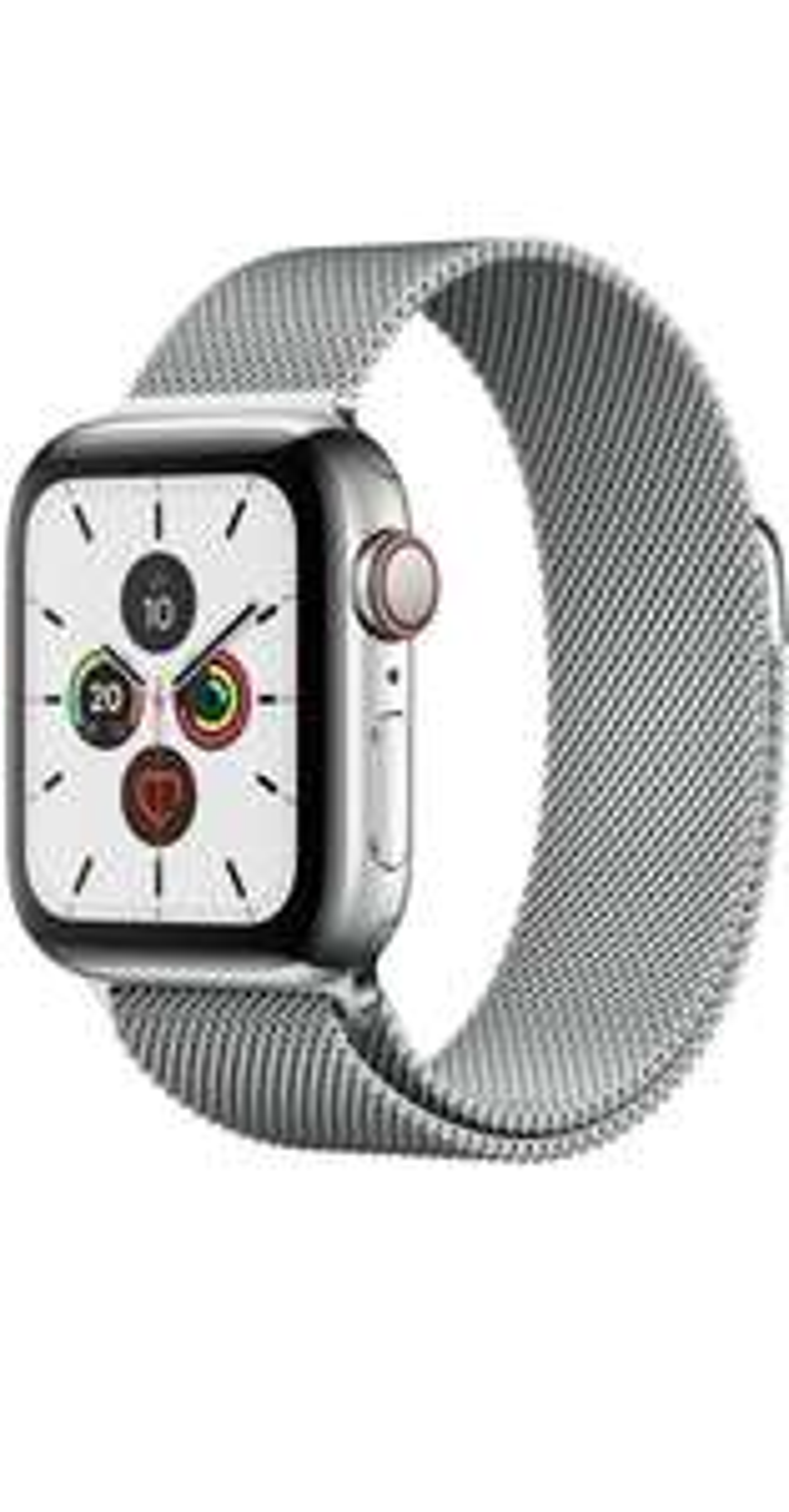 Apple Watch 5 GPS + LTE Edelstahl silber Milanaise 44mm