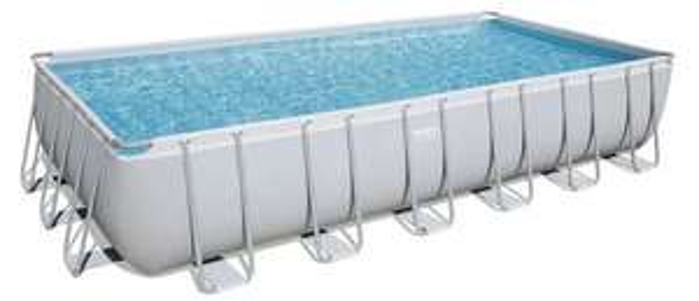 Bestway Pool 732/366/132 CM mit Leiter, Abdeckplane und Sandfilteranlage