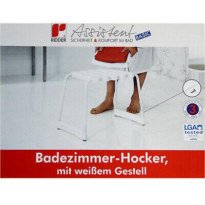 [eBay / sopomarkt24] Badhocker Duschsitz Badezimmer Hocker Badestuhl Hocker Gestell weiß Ridder 218