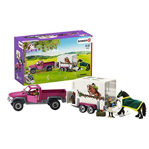 [Amazon Prime] Schleich 42346 Horse Club Spielset - Pick-up mit Pferdeanhänger, Spielzeug ab 5 Jahren, 15 Teile