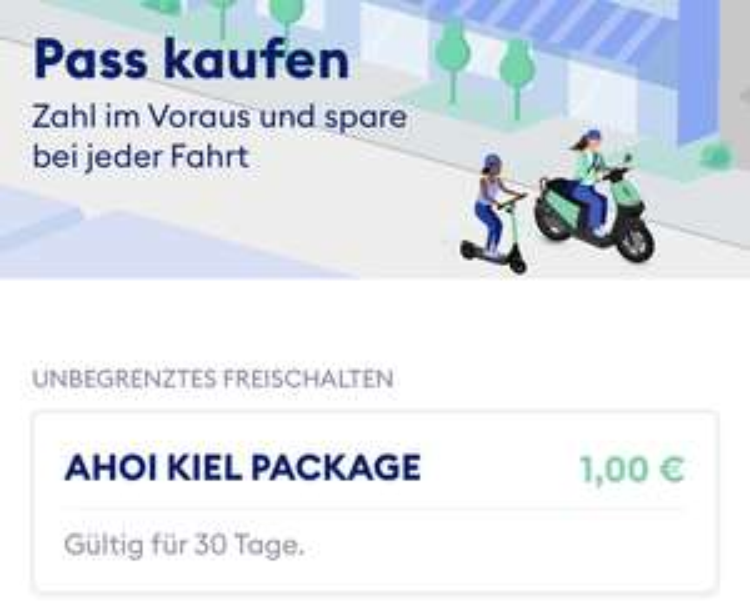 [Lokal Kiel?] TIER Scooter Monatspass für 1€ statt 5,99