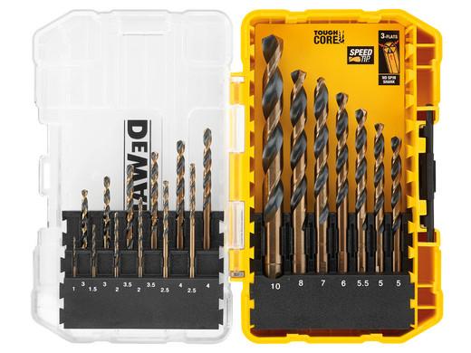 "DeWalt HSS Metallbohrerset ""Black+Gold DT70728"" (19-teilig, 1-10 mm, Anti-Rutsch-Schaft, Optimierte Punktgeometrie, Kernverstärkung) [iBOOD]"