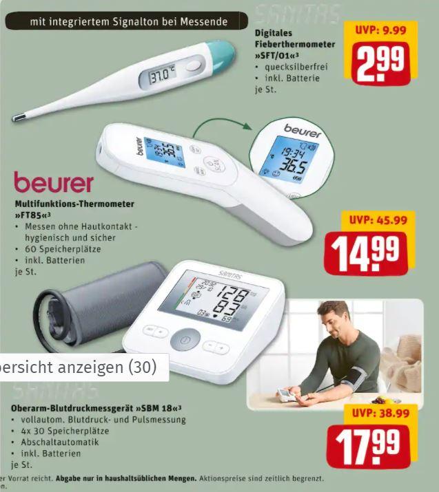 Beurer Fieberthermometer FT 85 kontaktlos in REWE-Märkten ab 22.02.2021