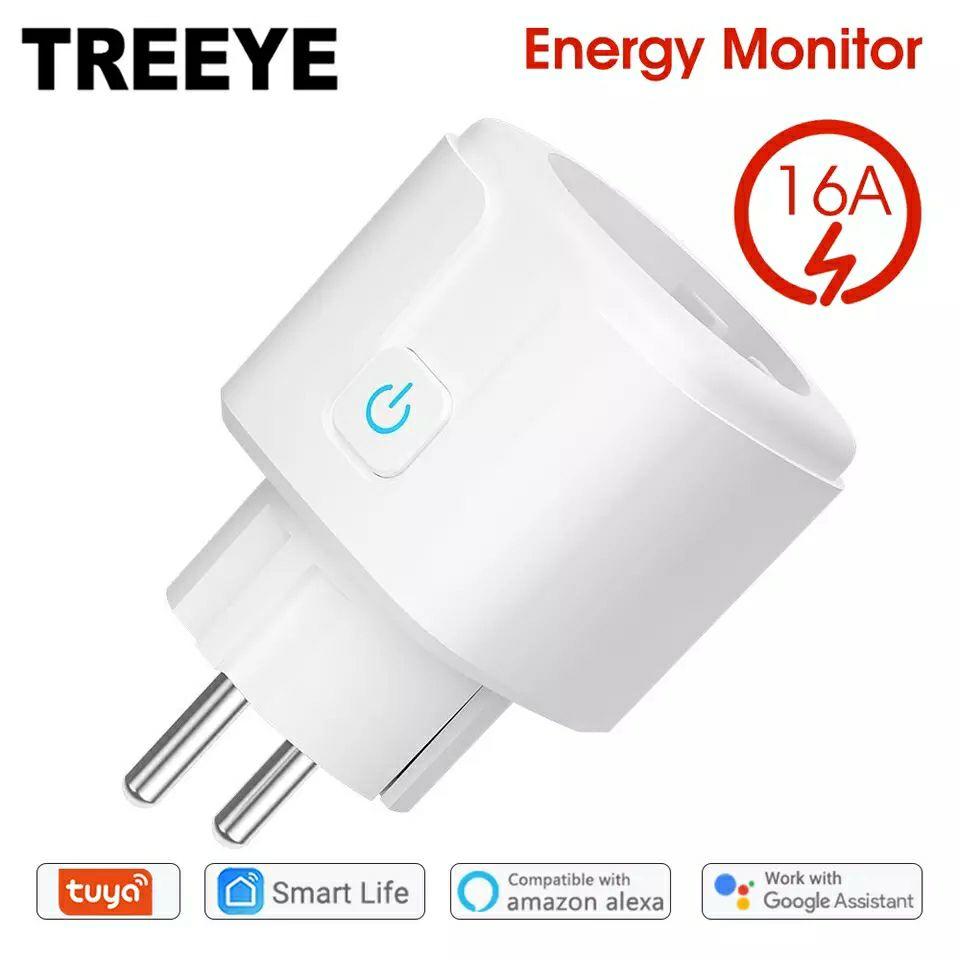 Tuya Smart WiFi EU Stecker 16A mit Power Monitor Kompatibel mit Alexa und Google Home Assistant