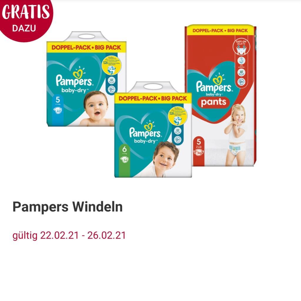 [ Rossmann ] 2x Pampers Baby-Dry o. Premium Protection Einzelpacks ab Gr.3 + 1x Pampers Pants Doppelpack dazu (Online wieder verfügbar)