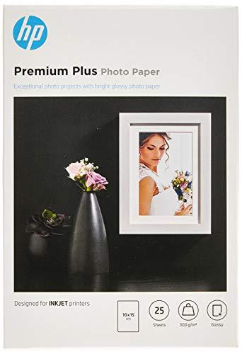 [Amazon Prime] HP Premium Plus-Fotopapier, glänzend, 300 g/m2, 10 x 15 cm, 25 Blatt