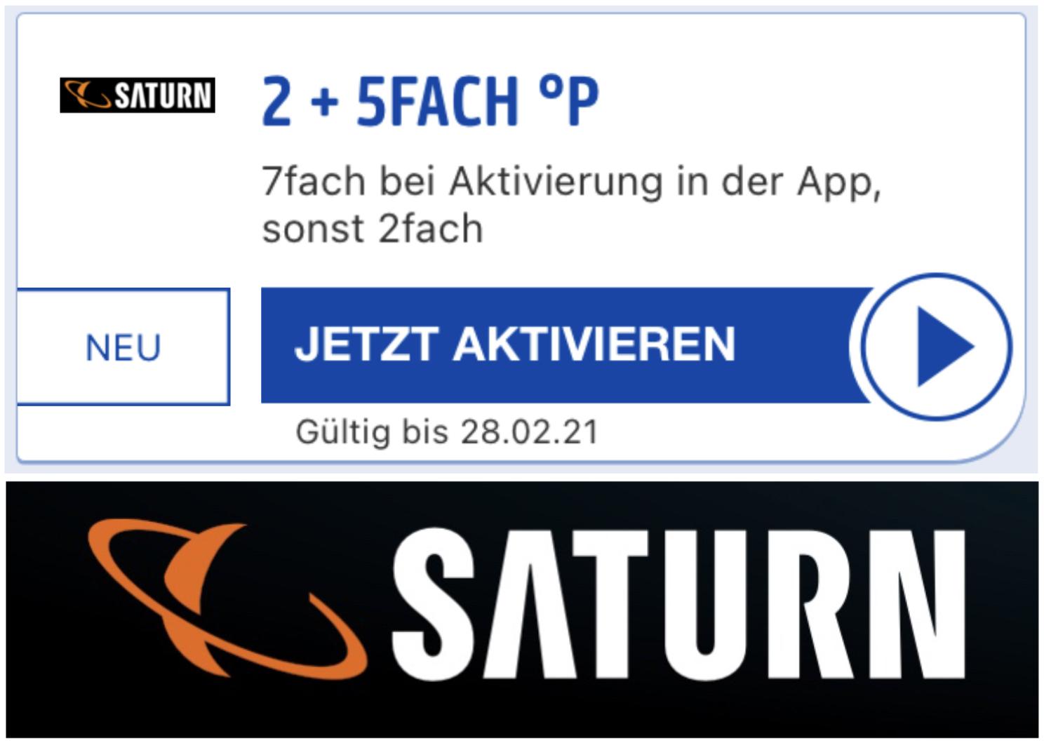 7-fach Payback Punkte bei Saturn - bis 28.02.