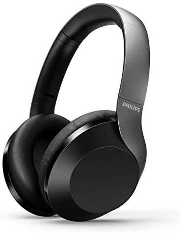 Philips H8505BK/00 Kabellose Over-Ear-Kopfhörer High Res Audio (40-mm-Treiber, Active Noise Cancelling, 30 Stunden Spielzeit,