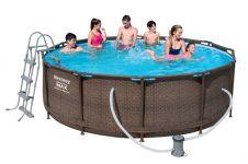 Bestway Steel Pro Pool Set 366x100 Rattan 56709 - auch in 6 Raten zu 64,83€/Monat ohne Zins möglich