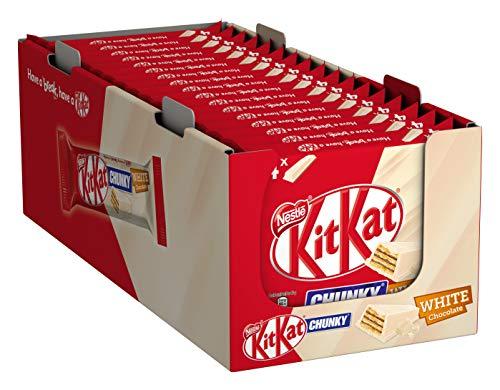 [Prime] Nestlé KitKat CHUNKY White Schokoriegel mit weißer Schokolade, Multipack, 20er Pack (à 4 x 40g)