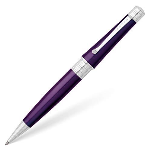 [Amazon Prime] Cross Beverly Kugelschreiber (Strichstärke M, Schreibfarbe: Schwarz, In Premium Geschenkbox) 1 Stück violett lack