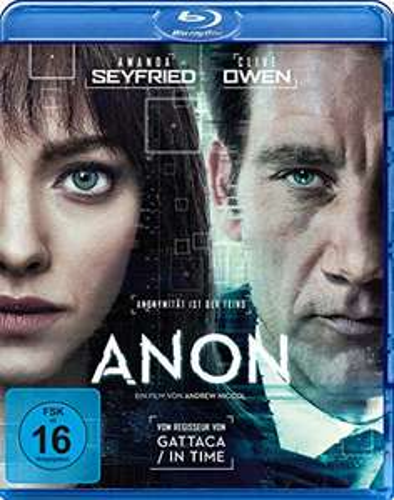 [Amazon Prime] Anon [Blu-ray], Sci-Fi Thriller mit Clive Owen und Amanda Seyfried; Regie: Andrew Niccol