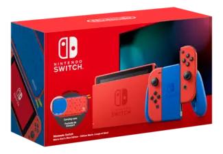 (Schweiz): Nintendo Switch Mario Red & Blue Edition - Spielekonsole - Rot/Blau