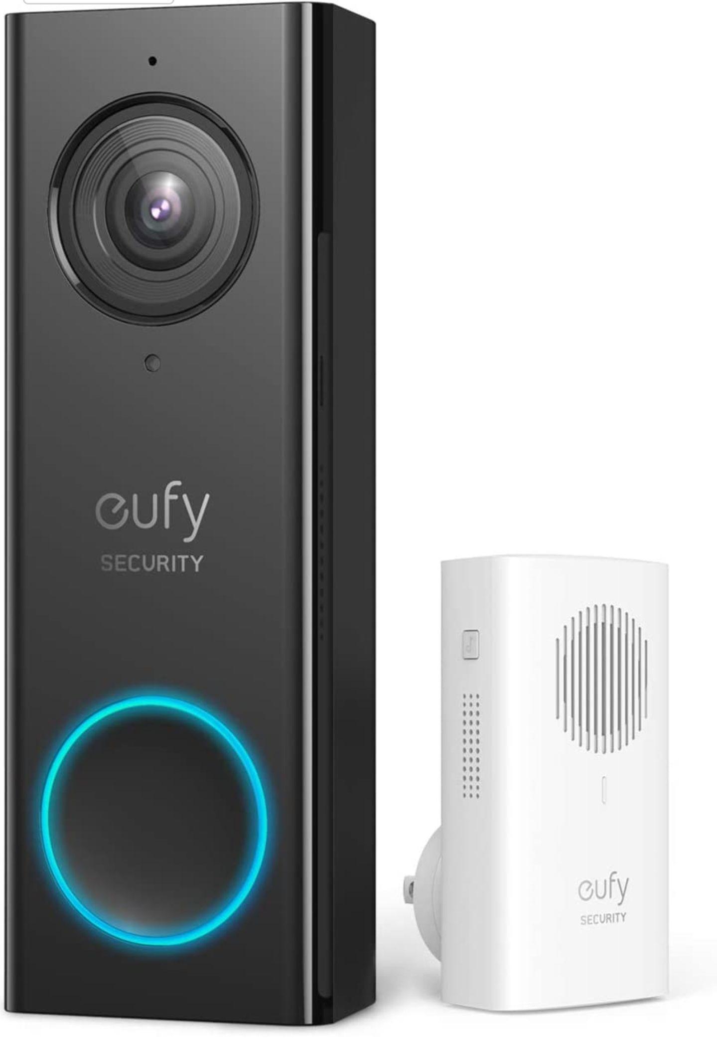[Amazon] eufy Security, Video-Türklingel mit WLAN-Funktion, 2K HD, Türglocke mit doppelseitiger Audiofunktion, ohne monatliche Gebühren
