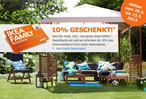 """[IKEA Family Bezahlkarte] 10% des Einkaufs als Gutscheinkarte, Kombination mit """"Einrichtungsbonus"""" vermutlich möglich"""