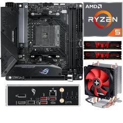 Aufrüstkit AMD Ryzen 5 5600X (6x 3,7GHz) + 16GB RAM + ASUS ROG Strix B550-I Gaming Mainboard