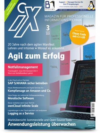 """[Heise] iX Magazin 3 Ausgaben (Print oder digital) + Sonderheft """"Moderne Softwarearchitektur"""" + 10 € Amazon-Gutschein für 16,50 €"""