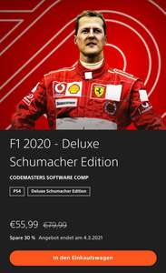 F1 2020 Deluxe Schumacher Edition PS4 PSPlus