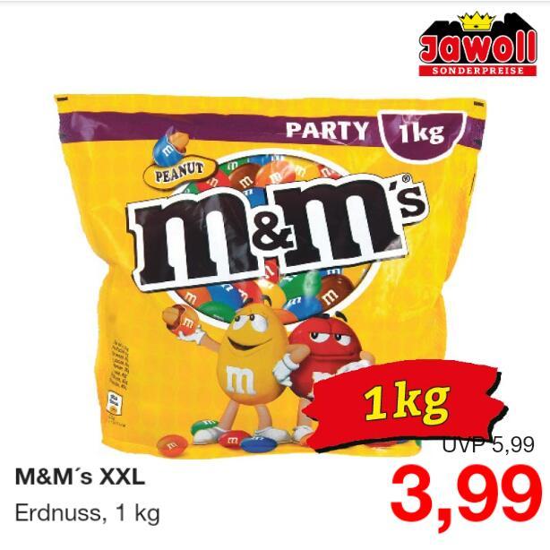 M&M's (Erdnuss) XXL 1kg Peanuts Party Bag (MHD 21.03.21)