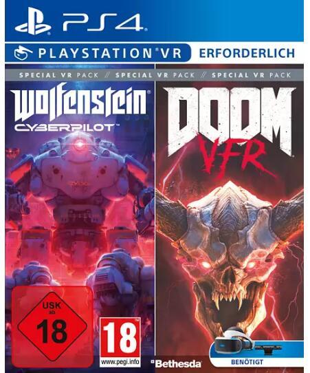 Wolfenstein Cyberpilot + Doom VFR (PS4) für 12,99€ (Media Markt & Saturn Abholung)