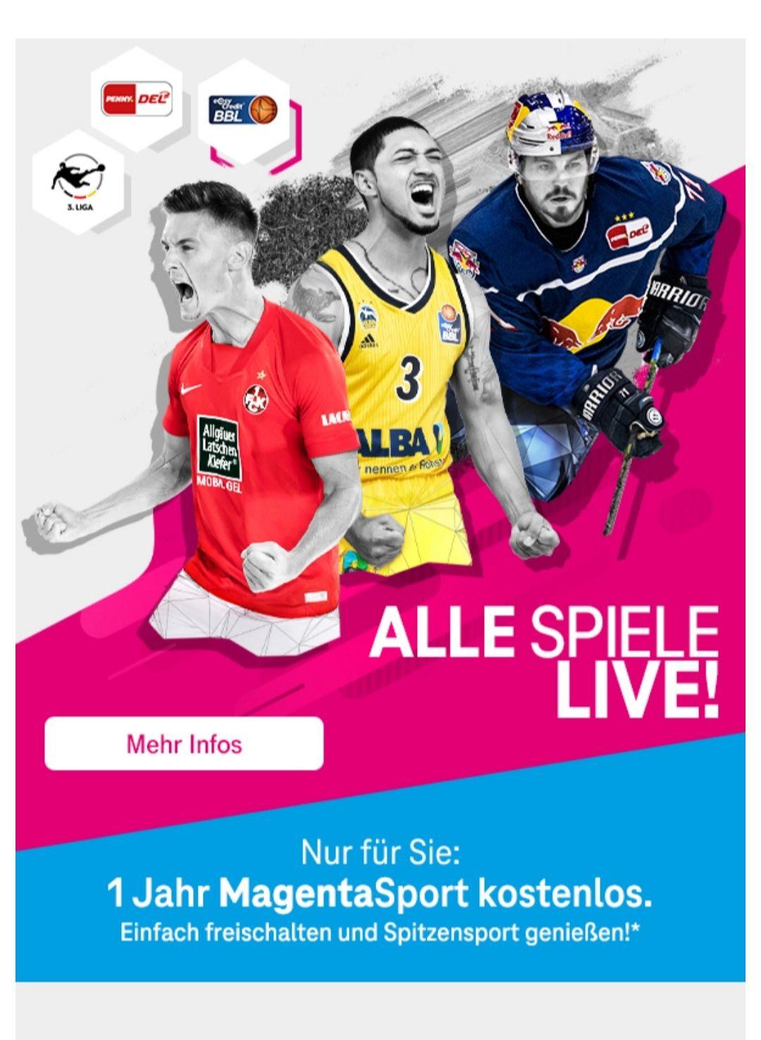 Telekom Magenta Sport 12 Monate gratis mit 15€ Gewinn in Form von Payback Punkten für Telekom Bestandskunden